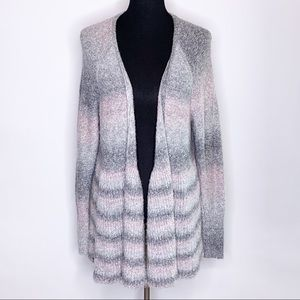 Torrid gray pink ombre striped open front cardigan size 2 or 2X